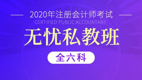 2020年注册会计师私教直播班(全六科)