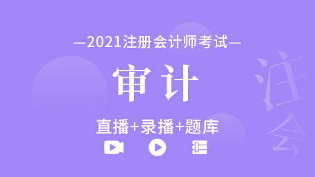 2021年注册会计师-审计(直播+录播+题库)