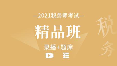 2021年税务师备考精品班(录播+题库)